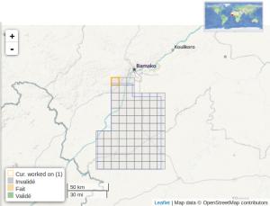 #794 - Épidémie d'Ebola, Mali, Bamako-sud, Réseau routier et zones résidentielles