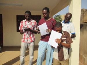 De gauche à droite : Ismael, Diallo, Jean-Baptiste et Innocent
