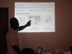 Kisito présente le service Fieldpapers pour la production de carte papier pour les enquếtes de terrain
