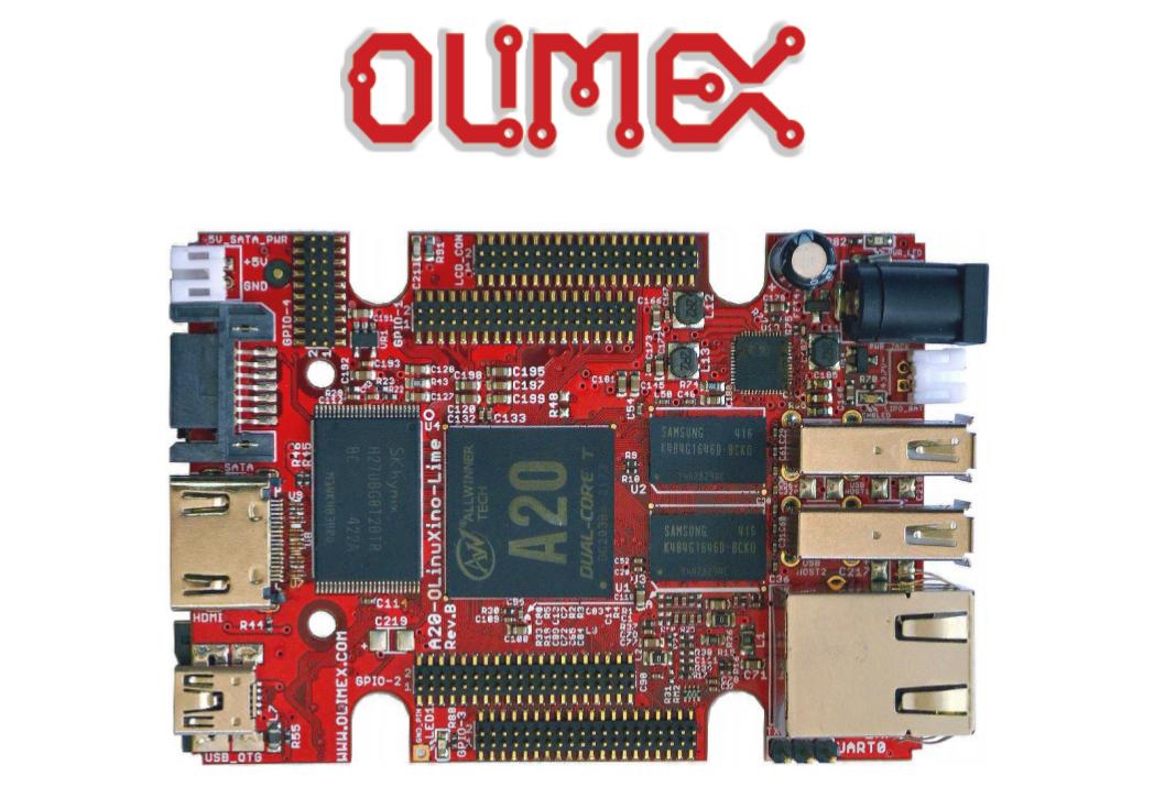 Image issue de la documentation de la carte Olimex, composant de base de la Brique Internet