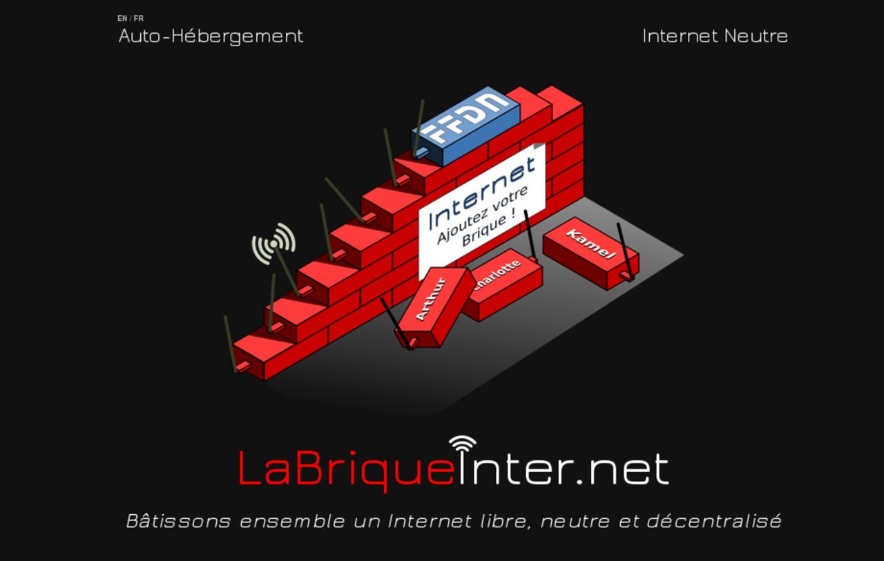 Copie d'écran de la page d'accueil labriqueinter.net