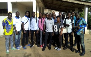Group photo in Lomé (Togo) 5 days ours training « OSM, Free GIS and opendata » & 1 day mapathon